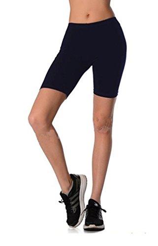 aa505f3e0fd98f Dykmod Damen Kurze Leggings Shorts Sport Radlerhose mf7 46, Dunkelblau