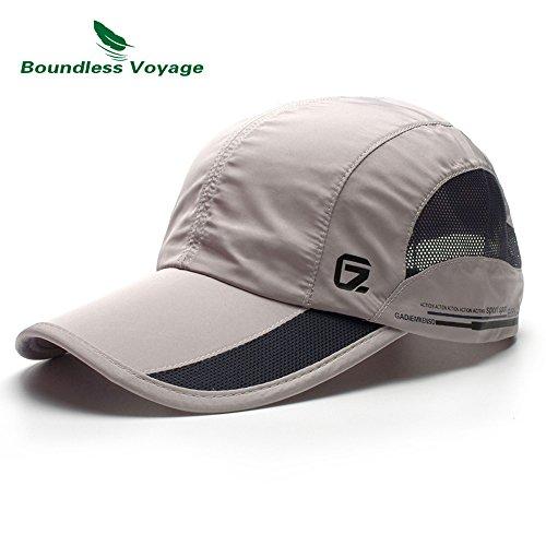 54dfa7f6e10416 KimTime verstellbar Mütze Schnelltrocknende Schirmmütze UV-Schutz Kappe für  Herren und Damen Sommer