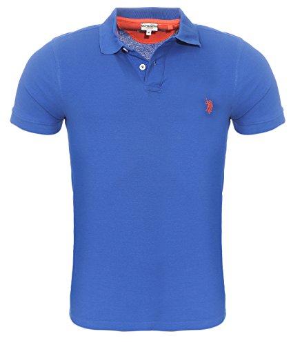 26c3cbc144 U.S. Polo Assn. S/S Shirt Herren Poloshirt Polohemd Blau 197 42607 51887  173, Größenauswahl:XXL