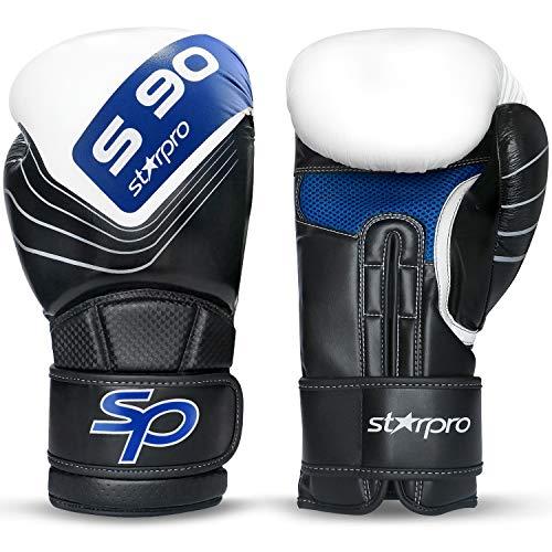 Deba® Boxhandschuhe Boxing Gloves Kampfsport Kickboxen Rindsleder Boxen MMA